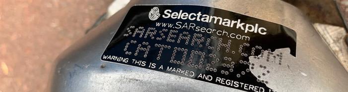 Etykieta znakująca katalizator SelectaDNA