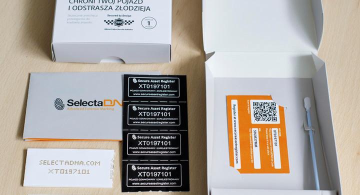 Elementy zestawu znakowania SelectaDNA