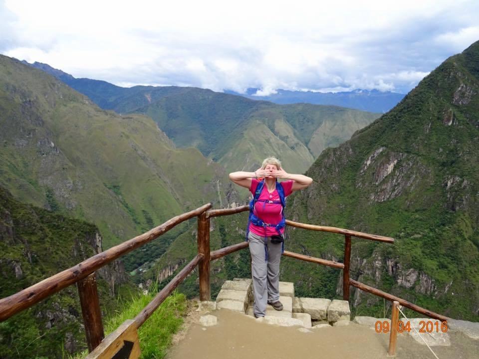 Jackie Gavin at Machu Picchu