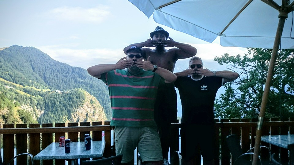 Rob, Eric, and Sanjay at Alpe d'Huez