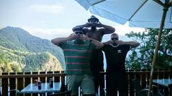 Rob, Eric, and Sanjay at Alpe d'Huez