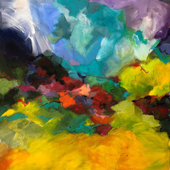 An Ocean of colors 70 x 70 cm