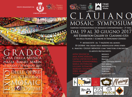 Currently on the mosaic symposium in Italy working on a project
