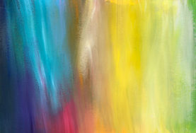 Pale coloured rainbow