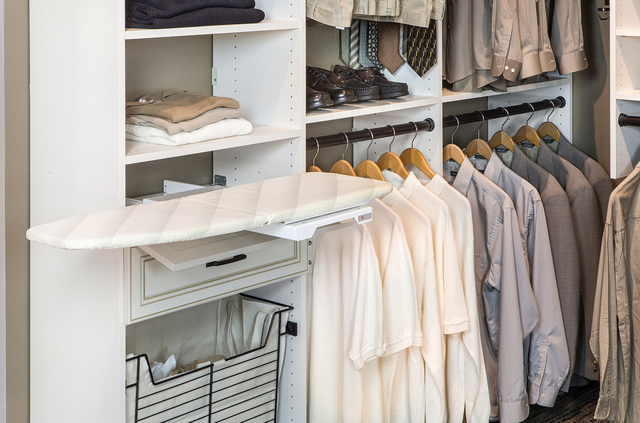 closet ironing board ideas