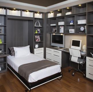 oak white bed down