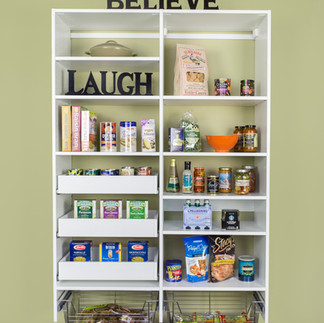 simple white pantry