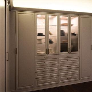 above lighted cabinet