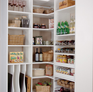 white pantry wall-mount