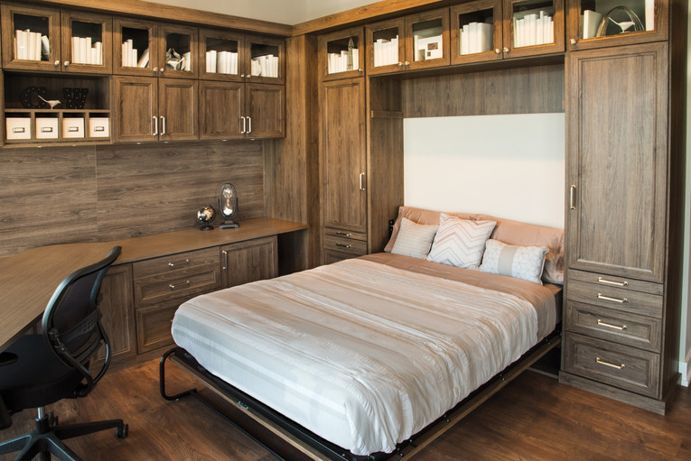 wall bed with desk