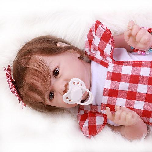 Boneca reborn Saskia toda em silicone
