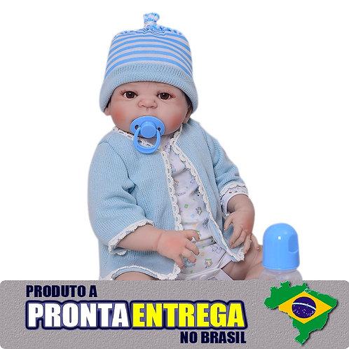 Bebe Reborn Menino TODA EM VINIL SILICONADO pronta entrega