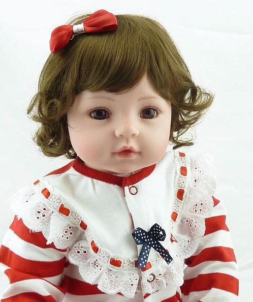 Princesa Menina Bonecas Reborn lifelike Cabelo Castanho