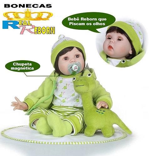 bebe real reborn que pisca os olhos