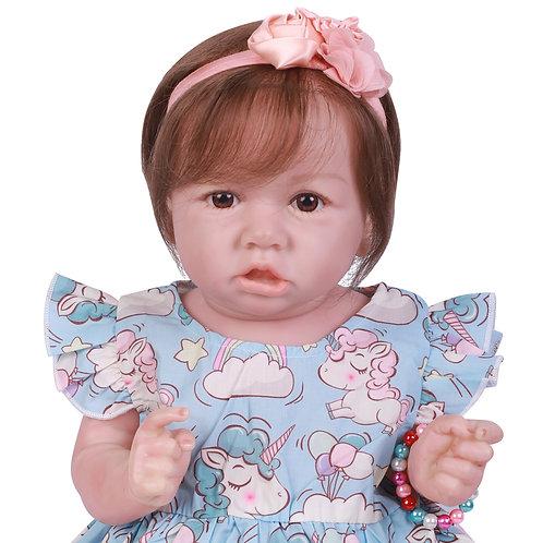 Bebe reborn Saskia toda em silicone