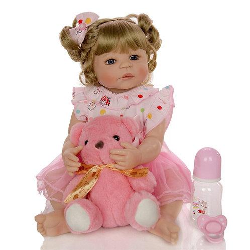 Boneca reborn loira silicone linda