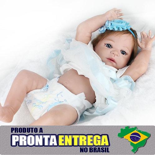 Boneca Bebe Reborn Realista pronta entrega 100% VINIL SILICONADO