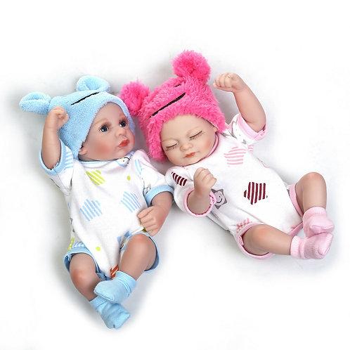 Gemeos mini Bebe Reborn 2 pelo preço de 1