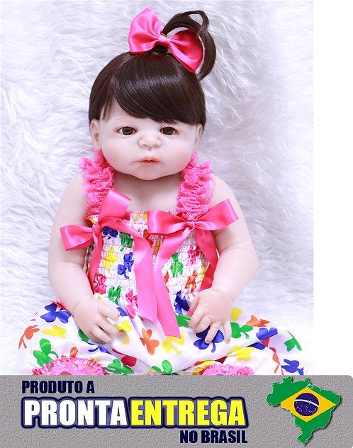 Boneca Bebe Reborn pode dar banho pronta entrega VINIL SILICONE