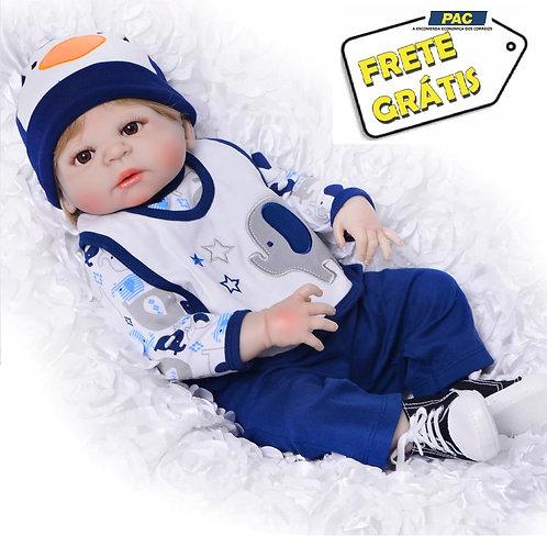 boneca bebe reborn silicone menino