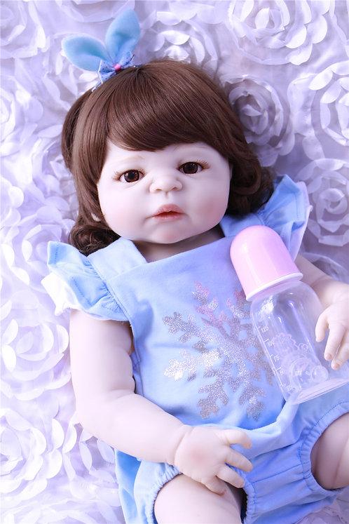 Bonecas Real Reborn LINDA TODA EM SILICONE CABELOS GRANDES