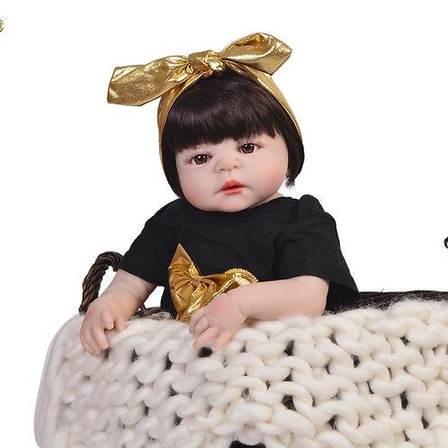 Bebê Reborn Lacinho Dourado