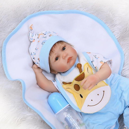 bebe reborn azul 40 cm lindo barato