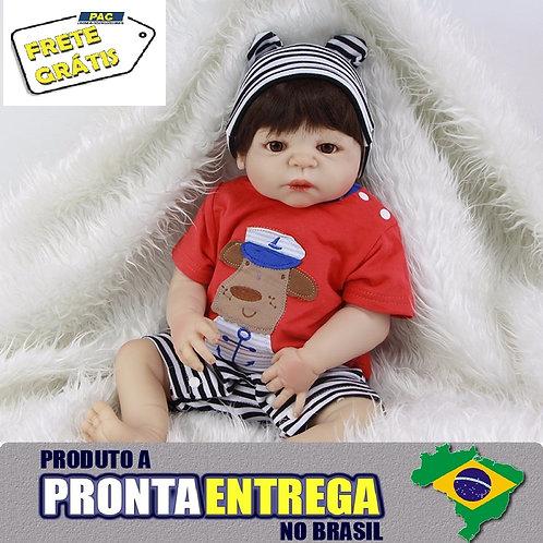 Boneca Bebe Reborn menino pronta entrega VINIL SILICONE