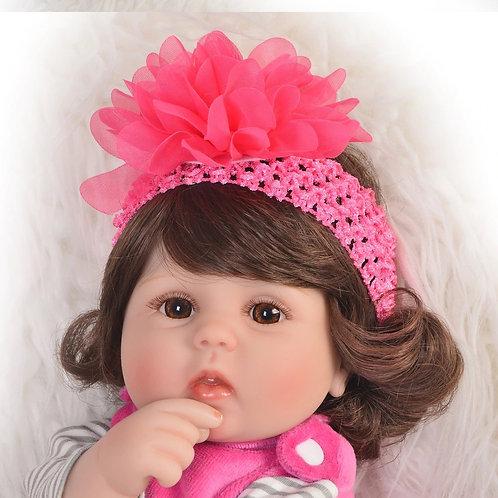Bebê Reborn barata Alice Cabelos Longos
