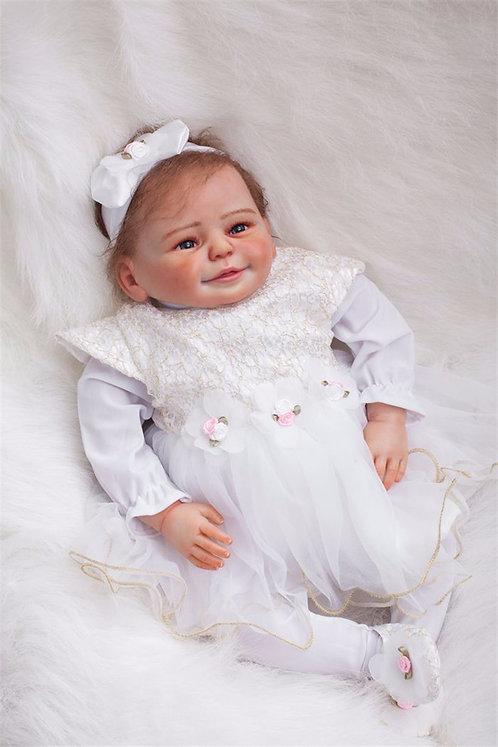 bebe reborn realista princesa 50 cm