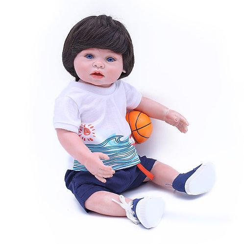 bebe reborn menino 100% silicone Futebol