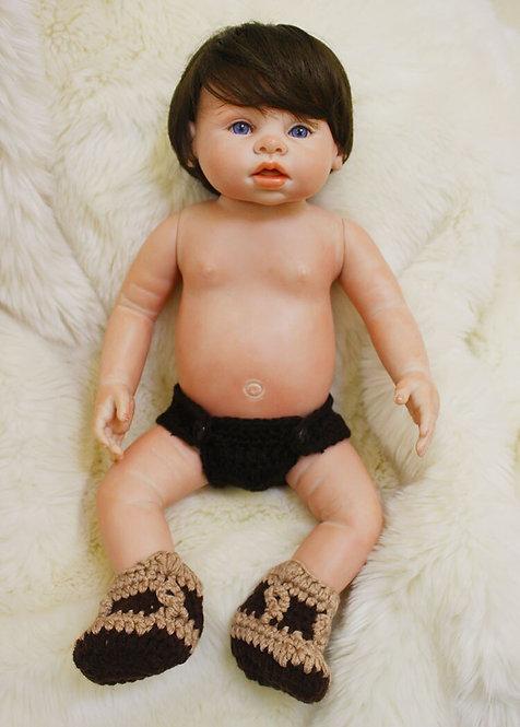 Bebe reborn de silicone 43 cm sem roupa