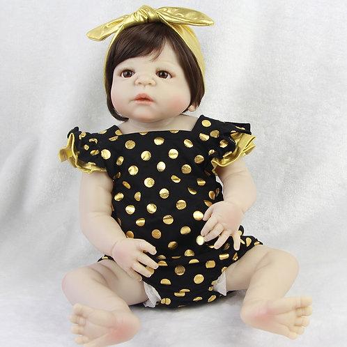 Bebê reborn roupa de bolinha