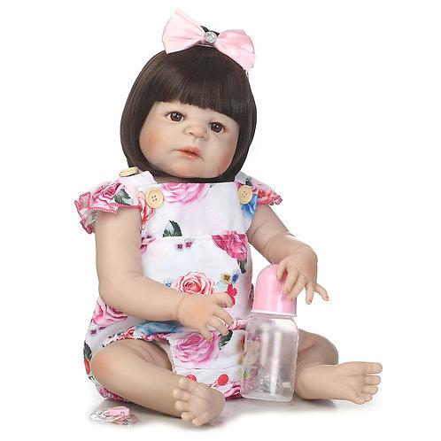 Boneca Bebê Reborn Real TODA EM VINIL SILICONADO Lançamento
