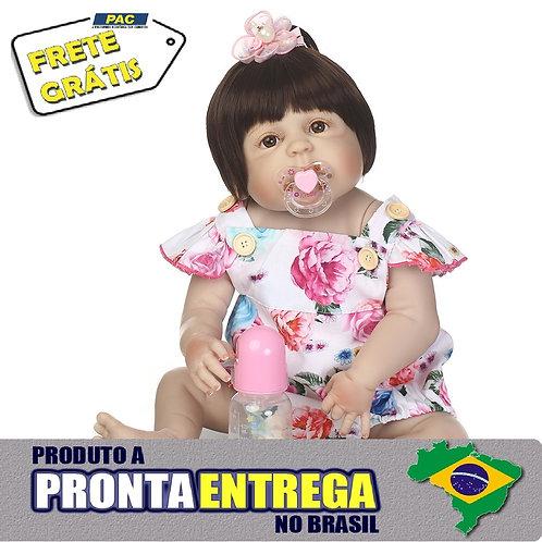 Boneca Bebe Reborn silicone 100% VINIL SILICONADO Entrega Imediata