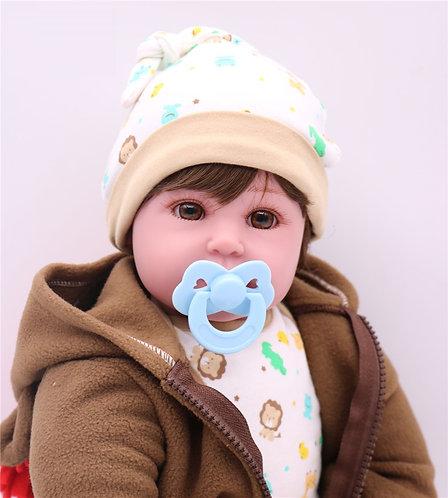 Renascer Bebe Reborn  55 cm real boneca