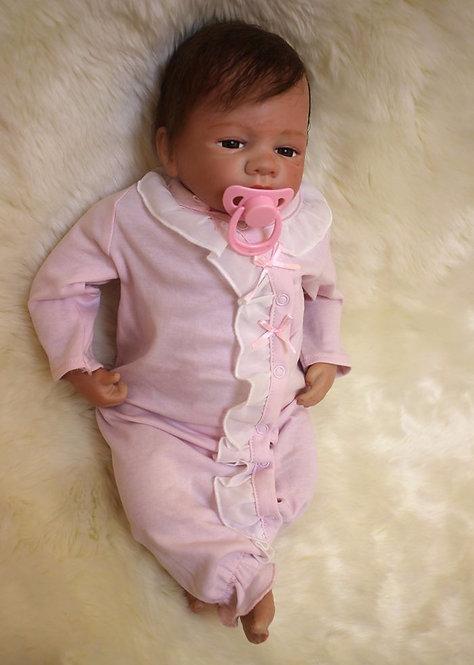 bebê recém-nascido 50 cm realista