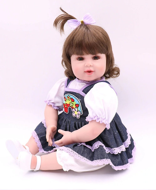 Boneca de Vinil Silicone Bebê Reborn Moda Princesa