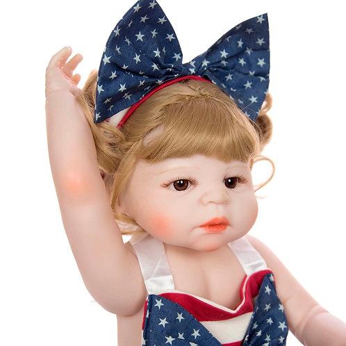 bebê reborn LOIRA 55 cm Toda silicone Lançamento 2019