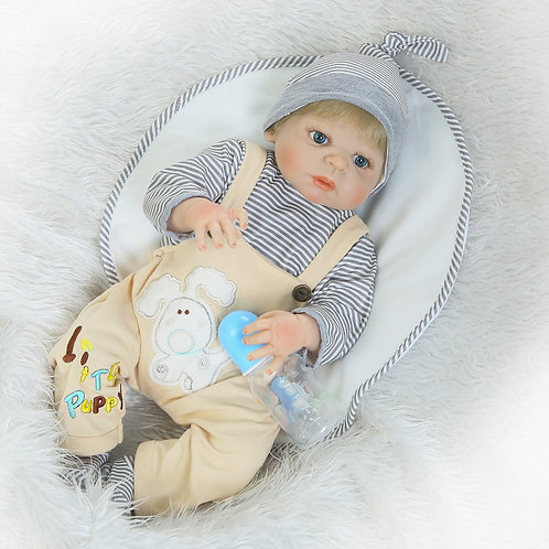 Boneca Reborn TODA EM VINIL SILICONADO menino loiro