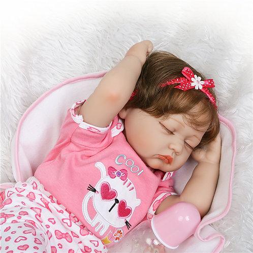 Bonecas real reborn bebê dormindo