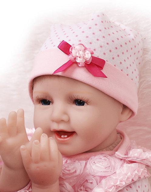 Realista Bebê Reborn Boneca 55 CM Roupas Cor de Rosa