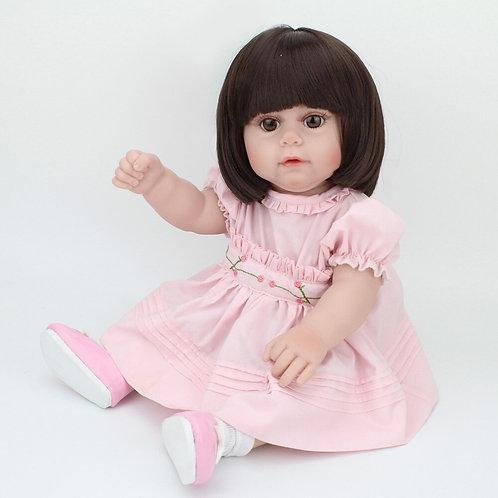 Boneca Reborn Silicone de Corpo Inteiro 43 cm barata