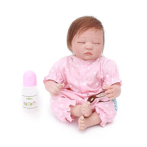 bebe reborn dormindo 50 cm presente real