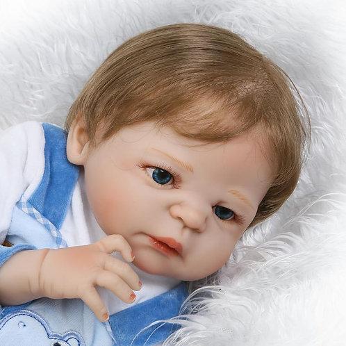 Bebe reborn menino cabelos implantados