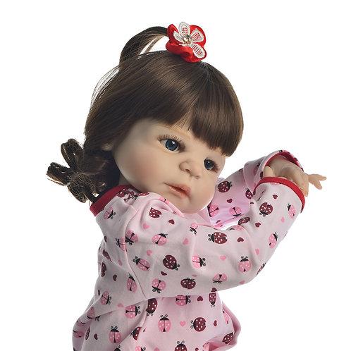 Bebe Reborn Toda em Silicone Pijama