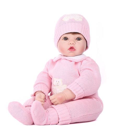 bebe real reborn com roupinha de frio