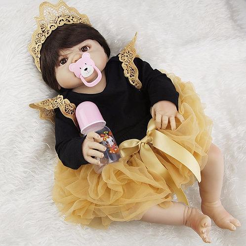 Boneca Real Reborn  RAINHA TODA EM SILICONE