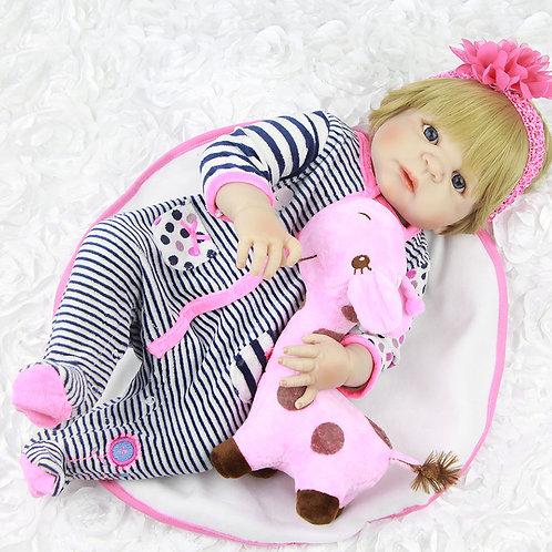 Boneca Bebe Reborn silicone sob encomenda VINIL SILICONADO macacão