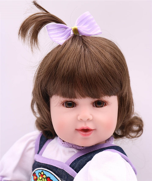 Real Bebê Reborn Bonecas 55 cm Silicone